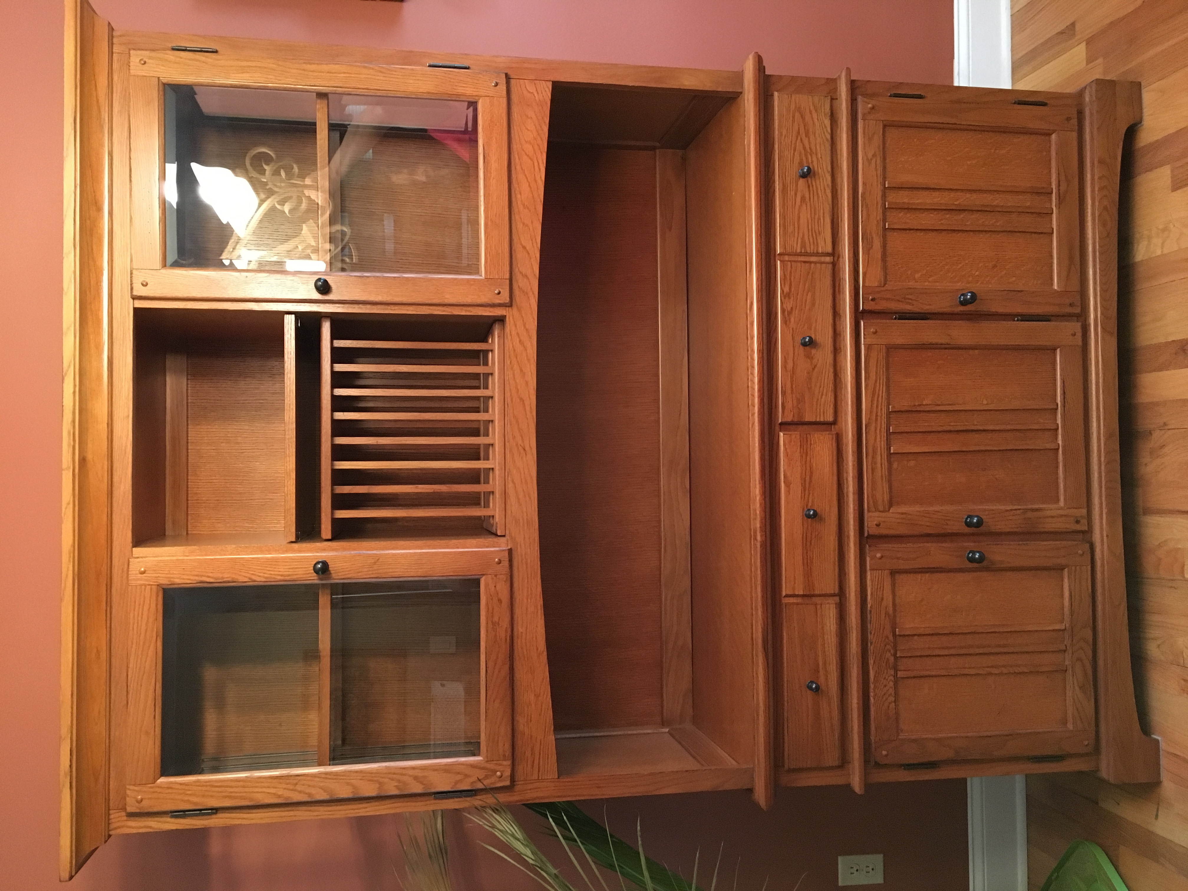 Oak Dining Room Hutch