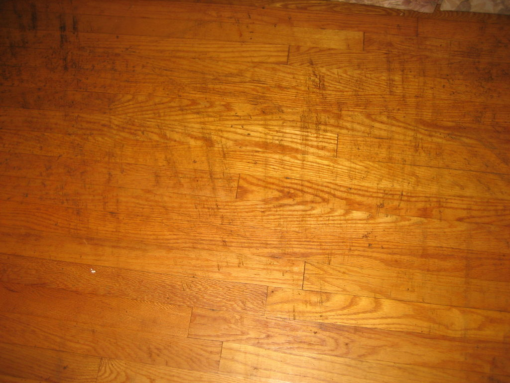 Cleaning Tar Like Substance Off Old Hardwood Floor