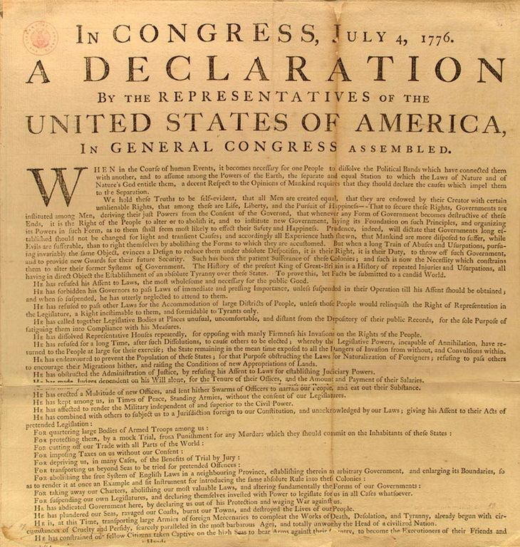 declaration of independence american dream