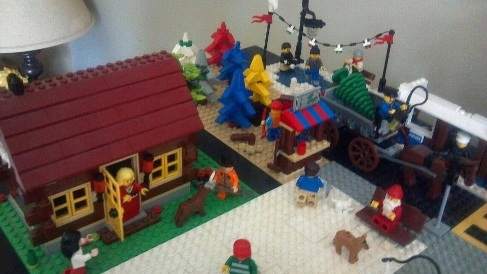 Ds have built roads trees houses etc over the last few christmas