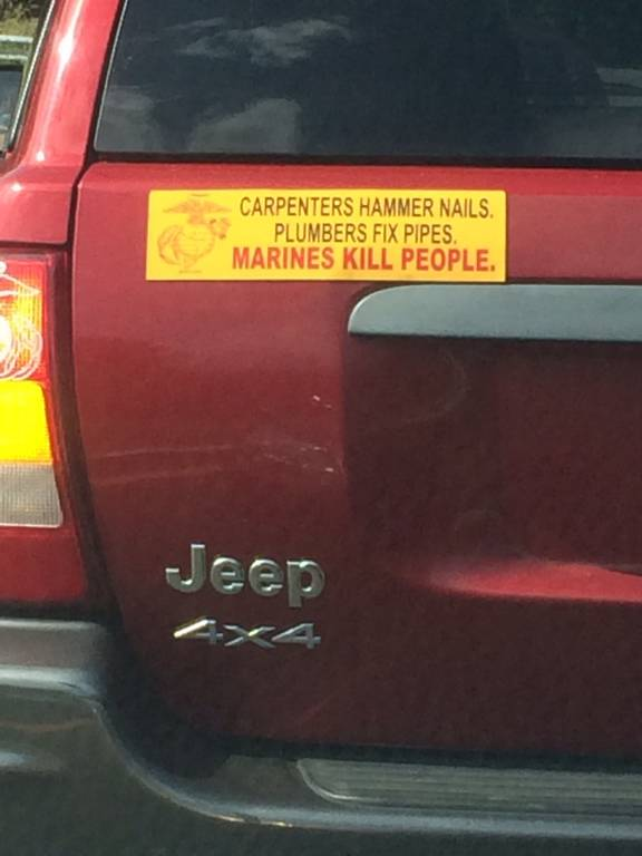 Meaning Of This Bumper Sticker Hackettstown Nj