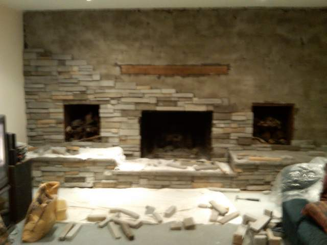 Re: Refacing A Large Brick Fireplace