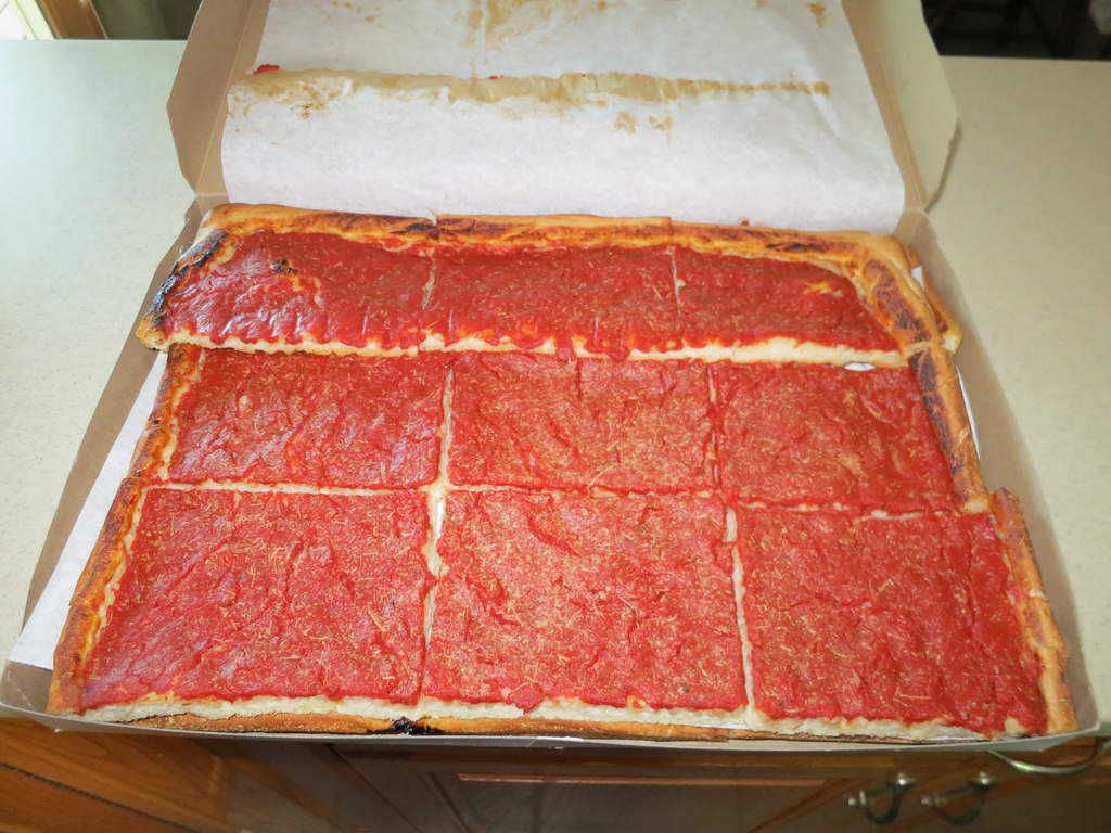 Heres The Tomato Pie From Roseto Bakery Two Layers Deep Will Let You Know How It Tastes When We Try Later